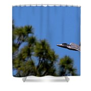 F22 Raptor Flying Low Shower Curtain