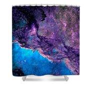 Purple Nebula Shower Curtain