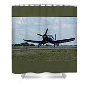 F4u-4 Corsair Airplane 30 Shower Curtain