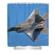 Fa 22 Raptor From Air Show Shower Curtain