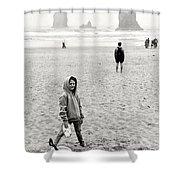 Faa-beach Fun.  Shower Curtain