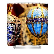 Faberge Holiday Eggs Shower Curtain