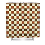 Fabric Design Mushroom Checkerboard Abstract #2 Shower Curtain