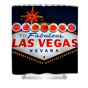 Fabulous Las Vegas Sign Shower Curtain