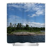 Fabulous Northern Summer - Georgian Bay Island Landscape Shower Curtain