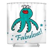 Fabulous Octopus Shower Curtain