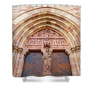 Facade Church Of Obernai,alsace France 073540 Shower Curtain