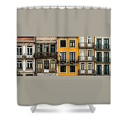 Facades Of Porto Shower Curtain