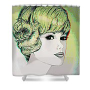 Face - Use Red-cyan 3d Glasses Shower Curtain