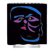 Face 1 On Black Shower Curtain