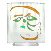 Face 1 On White Shower Curtain