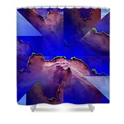 Face Cloud Illusion Shower Curtain