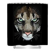 Face De Puma Shower Curtain