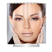 Face Shower Curtain