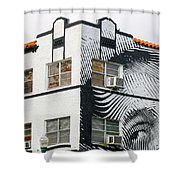 Face House, Calle Ocho Shower Curtain