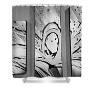 Face In Space B G I Shower Curtain