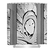 Face In Space B G Shower Curtain