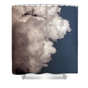Face In The Clouds Shower Curtain