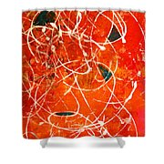 Face In The Mirror Abstract Painting Shower Curtain