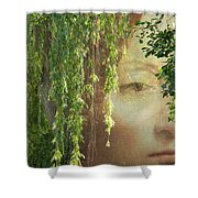 Face In The Willows Shower Curtain