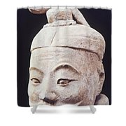 Face Of A Terracotta Warrior Shower Curtain