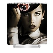 Face Of Dark Fashion Shower Curtain