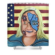 Face Paint And Freedom Shower Curtain