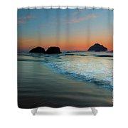 Face Rock Sundown Shower Curtain