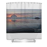 Face Rock Sunset Shower Curtain