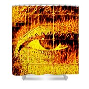 Face The Fire Shower Curtain