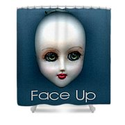 Face Up Shower Curtain