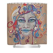 Faces 16 Shower Curtain