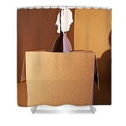 Faces 5 Shower Curtain