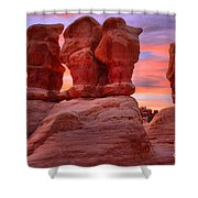 Faces And Fire Shower Curtain