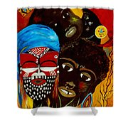 Faces Of Africa Shower Curtain
