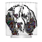 Faces Of Life 37 Beagle Color Shower Curtain