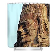 Faces Of The Bayon Temple - Siem Reap, Cambodia Shower Curtain