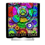 Faces Of Time 1 Shower Curtain