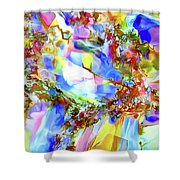 Faceted Gems Shower Curtain