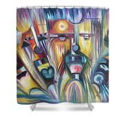 Facial Expression Colorful Shower Curtain