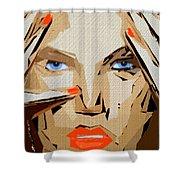 Facial Expressions Xix Shower Curtain