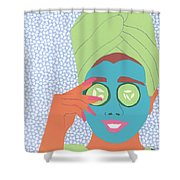 Facial Masque Shower Curtain