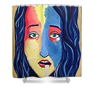 Facial Or Woman With Green Eyes Shower Curtain