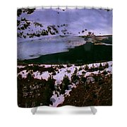 Facinating American Landscape   Snow Mountains Mini Lakes Winter Storms Welcome Trips To Nature Shower Curtain