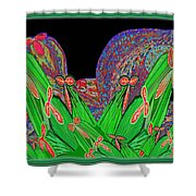 Facination For Cactus Plants And  Flower Shower Curtain