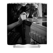 Facing Daily Reality Shower Curtain