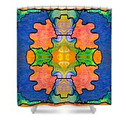 Facing Realities Abstract Hard Candy Art By Omashte Shower Curtain