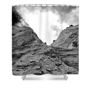 Facing Rock Shower Curtain