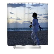 Facing The Sea Shower Curtain