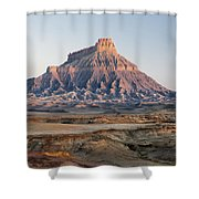Factory Butte 0761 Shower Curtain